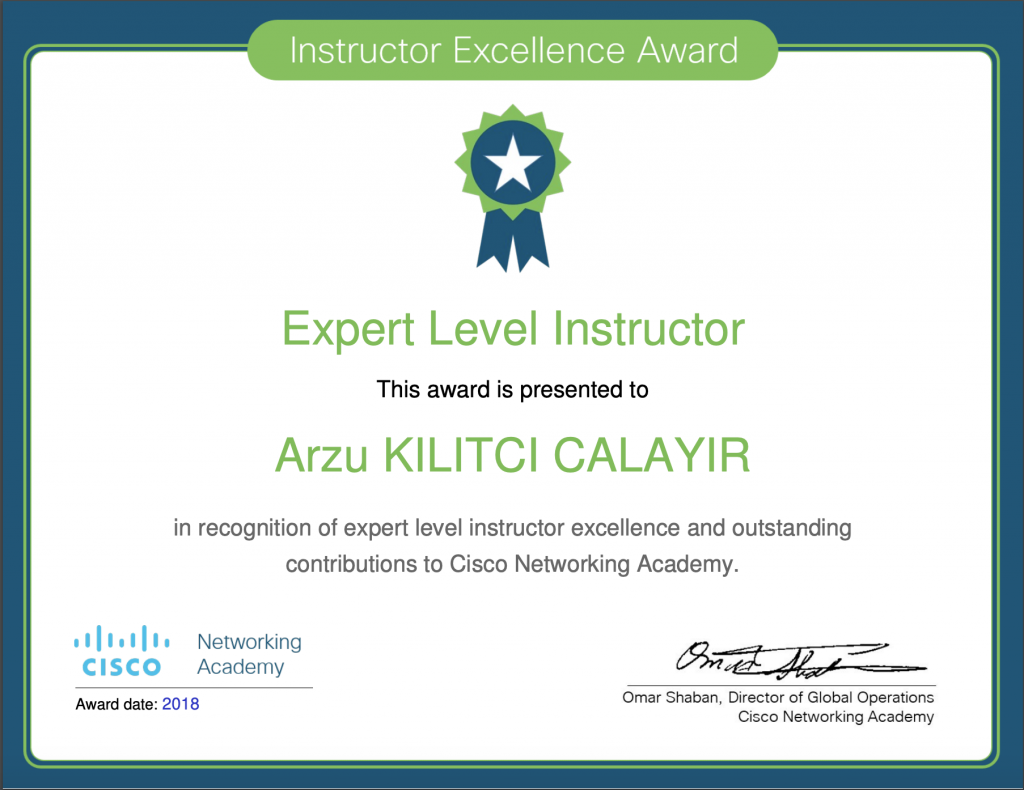 Instructor Excellence Award - ToMe:)2018